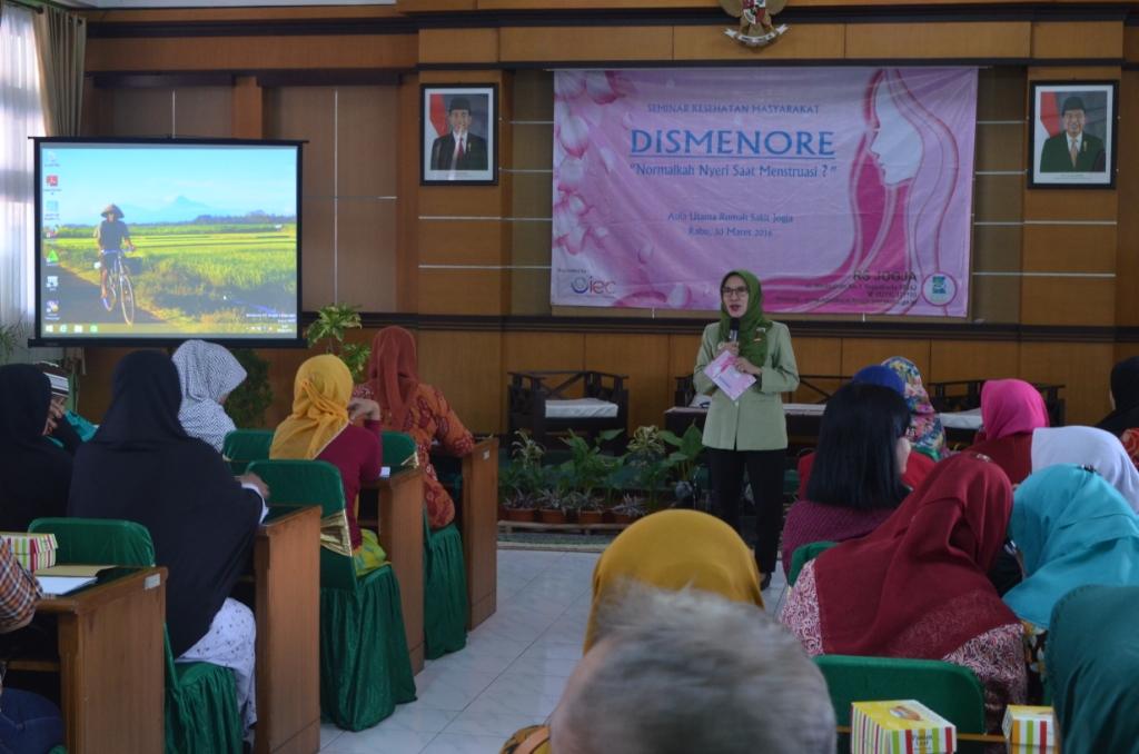 Seminar kesehatan Dismenore, Normalkah Nyeri Saat Menstruasi  Di RS Jogja